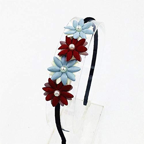 Miner Pearl Flower Hairband Hair Accessories Flower Hairbands Cute Hair Hoop Princess Head Band for Girls Headband Hair Accessories,Multi