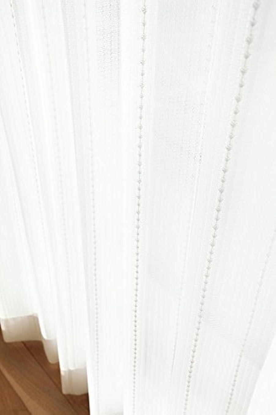 珍味ブルーム飲食店東リ ボリューム感をもたせたドットのストライプ フラットカーテン1.3倍ヒダ KSA60467 幅:250cm ×丈:230cm (2枚組)オーダーカーテン
