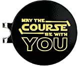 Balanced Co. May The Course Be with You Golf Hat Clip with Enamel Magnetic Ball Marker