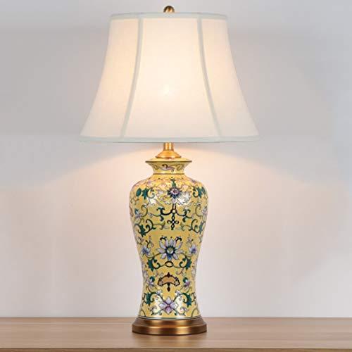 Lampade da comodino 26' cineserie tavolo Lampada da tavolo lampada di ceramica Divano Tavolino Lampada Retro Creative Hotel Soggiorno Camera da letto Comodino lampada Lampada da comodino ( Color : A )