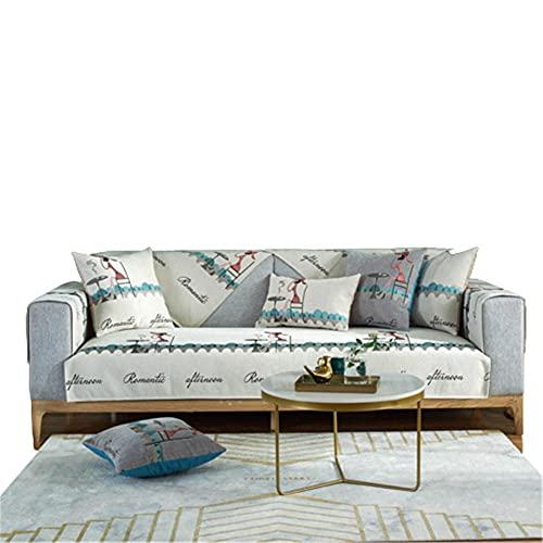 Sofá Antideslizante de Chenilla de Lujo Ligero,Funda para sofá para Mascotas,Fundas para sofá,Funda seccional para sofá,Beige,70 * 120 cm