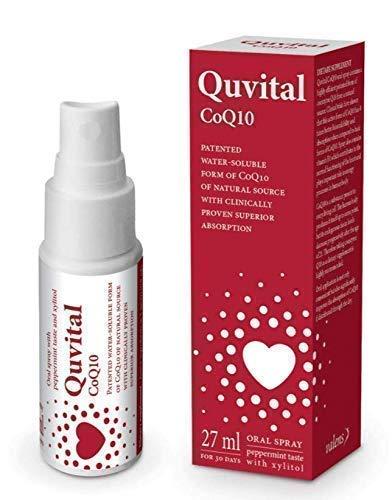 Co-Enzym Q10 Spray: 100% reines, zuckerfreies veganes CoQ10. Vitamin B1 (Thiamin) hinzugefügt