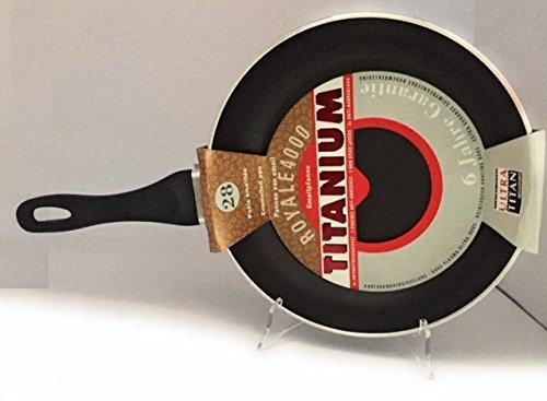 Lumenflon Pfanne 28 cm Titanium Royale 4000, Antihaftbeschichtung, Ultra Titan, emailliert, 6 mm dick