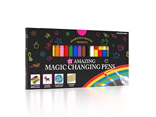 Marvin's Magic - Amazing Magic Pens   Colour Changing Magic Pen Art   Create 3D Lettering or Write Secret Messages   Includes 25 Magic Pens