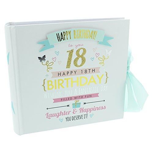 """Fotoalbum mit Aufschrift """"Happy 18th Birthday"""", für 80Fotos je 15x 10cm"""
