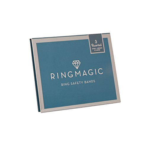 Ring Magic Ring Resizer, Ring Safety Bands, Trial Pack 3 Assorted Sizes (1 Sm, 1 Med, 1 Lrg)