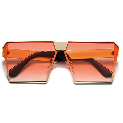 Vintage Big Square Hip Hop Adults Sunglasses with UV Protection
