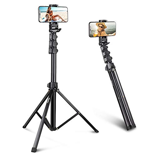 UBeesize 67'' Phone Tripod Stand & Selfie Stick Tripod, All in One Professional Cell Phone Tripod, Cellphone Tripod with Bluetooth Remote and Phone Holder, Compatible with All Phones/Cameras