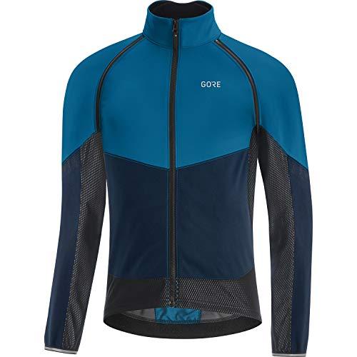 GORE WEAR Chaqueta de ciclismo Phantom para hombre, GORE-TEX INFINIUM, M, Azul cobalto/Azul marino