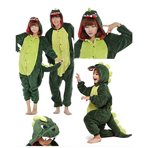 DOING Kinder und Erwachsene Schlafanzug Hausanzug Dinosaurier Pajamas Pyjamas Ganzkörperpyjama,Schlafanzug, Einteiler, Schlafoverall, Erwachsenenstrampler, Kostüm (B)