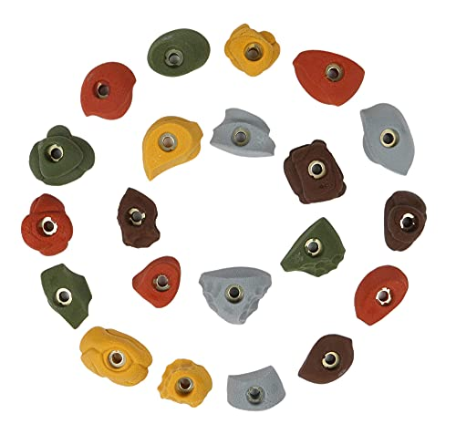 Atomik Climbing Holds 21 Classic Pack Bolt-Ons