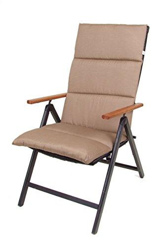 Spetebo Coussin pour Fauteuil à Dossier Haut – Coussin – Chaise de Jardin Coussin de Chaise Marron