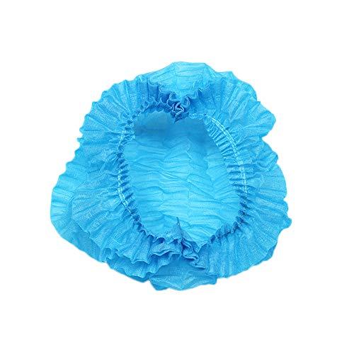 ZMDREAM 100 Stück Einweg Bouffant Cap Haarnetz 53,3 cm blau