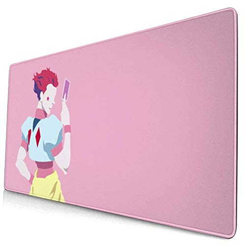 Hunter X Hunter Hisoka Morow Mouse Pad Pattern Mousepad Non-Slip Rubber Gaming Mouse Pad Rectangle Mouse Pads for Computers Laptop 15.8x29.5 in
