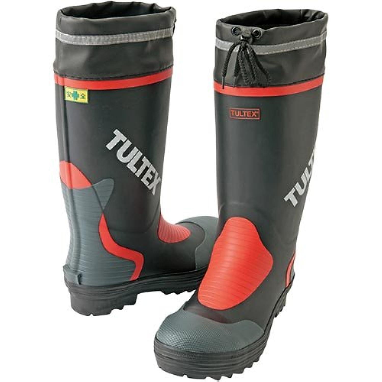 [アイトス] 安全ゴム長靴(鋼製先芯) 010/ブラック×レッド AZ-4702 24.5cm