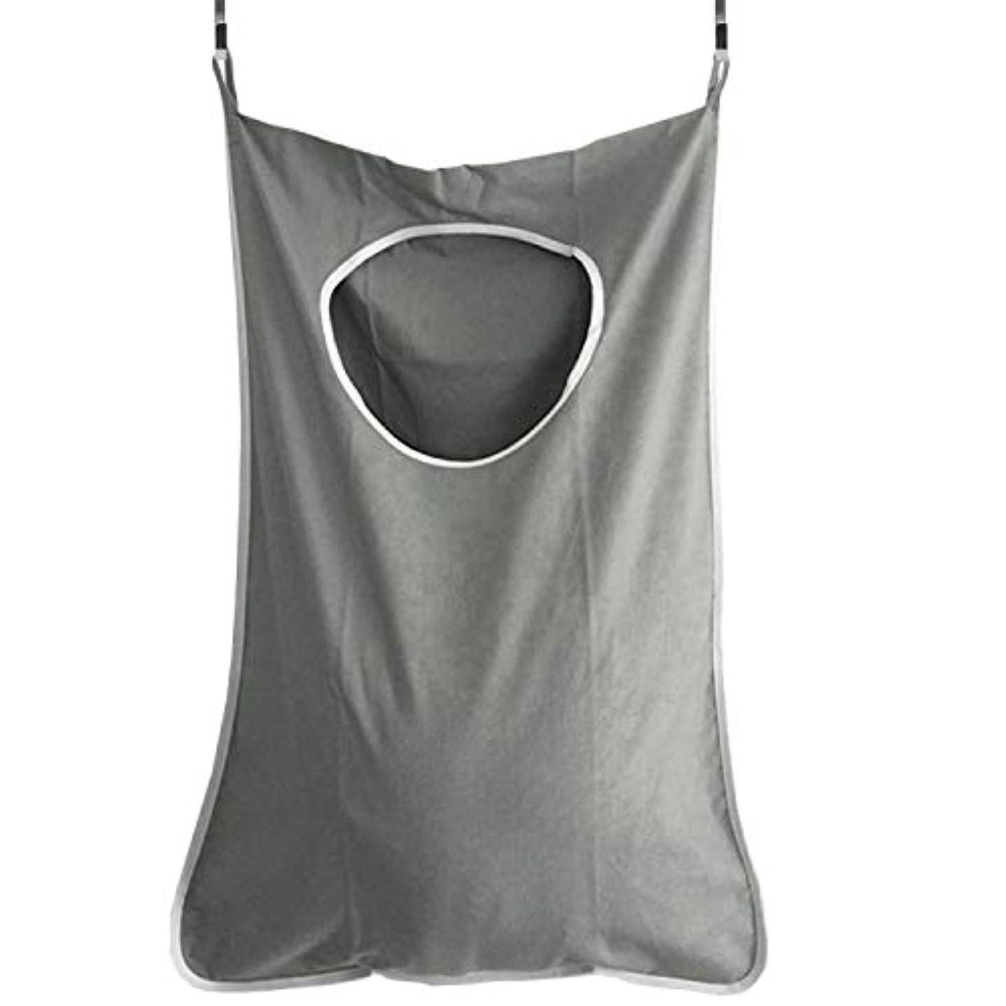 コマース有名リンケージLYgMV 家庭用収納ハンギングバッグ、ドアの後ろの汚れた服のポケット、携帯用の耐久性のある衣類収納バッグ、オックスフォードの布バッグ (Color : グレー)