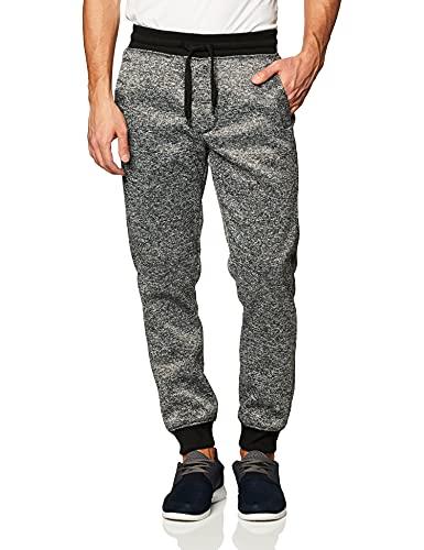 Southpole Men's Basic Fleece Marled Jogger Pant-Reg and Big & Tall Sizes