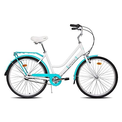 Hiland 26 inch Hybrid Bike for Women Alluminum Frame Shimano Nexus Inter-3 Three Speed Retro-Styled Cruiser Bicycle