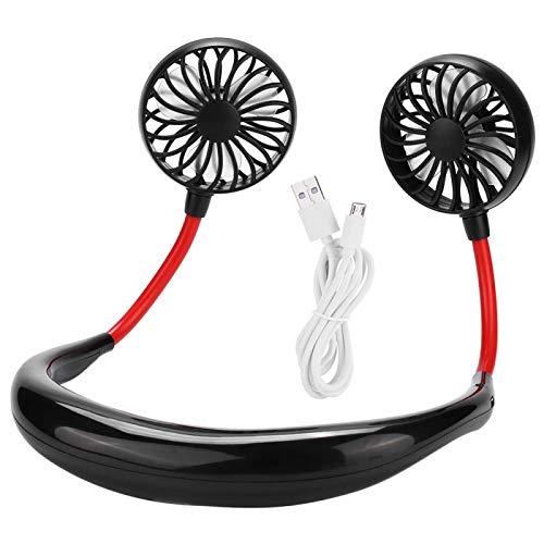 CUTULAMO Ventilador portátil de Manos Libres para el Cuello Ventilador portátil con Banda para el Cuello Portab Interior para el hogar(Black)