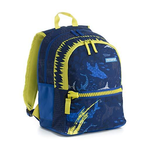 Zaino Mitama Plus Shark - multicolore, 26 LT, Leggero e robusto, megazip, doppio scomparto, scuola elementare