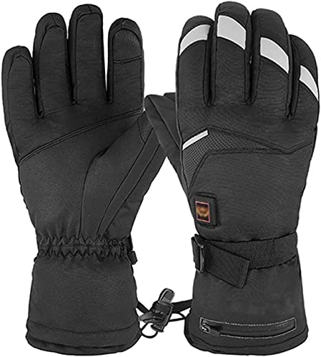 QMJHHW Heated Gloves Five Files Adjustable Temperature Hand Warmers, Men Women Winter Electric Heated Gloves Rechargeable, Heating Thermal Gloves for Skiing Cycling