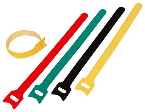 McPower 1535538 McPower Herbruikbare kabelbinders, met klittenband, 20 x 200 mm, zak van 50 stuks, snel gemonteerd, eenvoudig geopend, milieuvriendelijk alternatief voor montage