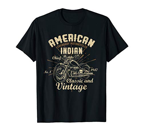 Retro Vintage American Motorcycle Indian for Old Biker Gifts T-Shirt