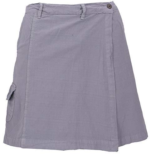 Guru-Shop Goa Shorts, Hosenrock, Damen, Taubenblau, Baumwolle, Size:XL (42), Shorts, Leggings Alternative Bekleidung