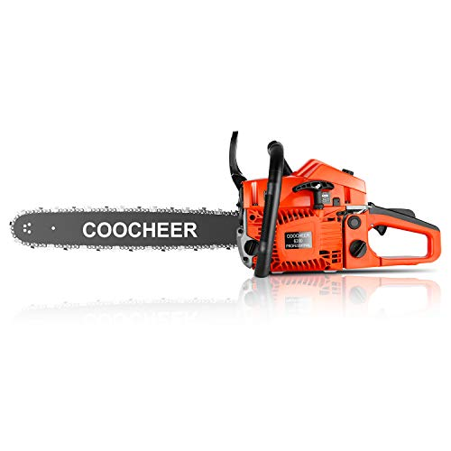 "Chainsaw 62CC 20"" 2-Stroke Portable Gas Chainsaw Handed Petrol Woodcutting Saw with Tool Kit"