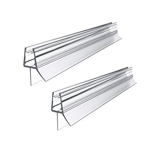 WELMAX Duschdichtung 2 x 80cm für Duschtür Glasstärken von 4-6mm | PVC Dichtung Ersatzdichtung mit Wasserabweiser für Duschkabine & Glastüren