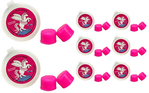 Putty Buddies Floating Earplugs 8-Pair Pack - Soft Silicone Ear Plugs for Swimming & Bathing - Invented by Physician - Keep Water Out - Premium Swimming Earplugs - Doctor Recommended (Hot Pink)