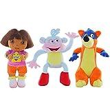 dingtian Kinder Plüschtiere 3 Teile/Satz 25cm Hohe Qualität Liebe AFFE & Dora & Fuchs Tier Puppen...