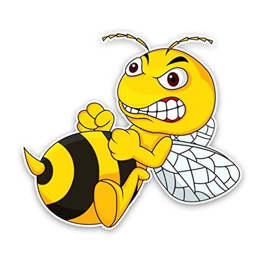 luyiwzd Autoaufkleber Sticker Eine Böse Biene Cartoon PVC Aufkleber Auto Aufkleber 13.6Cmx12.2Cm