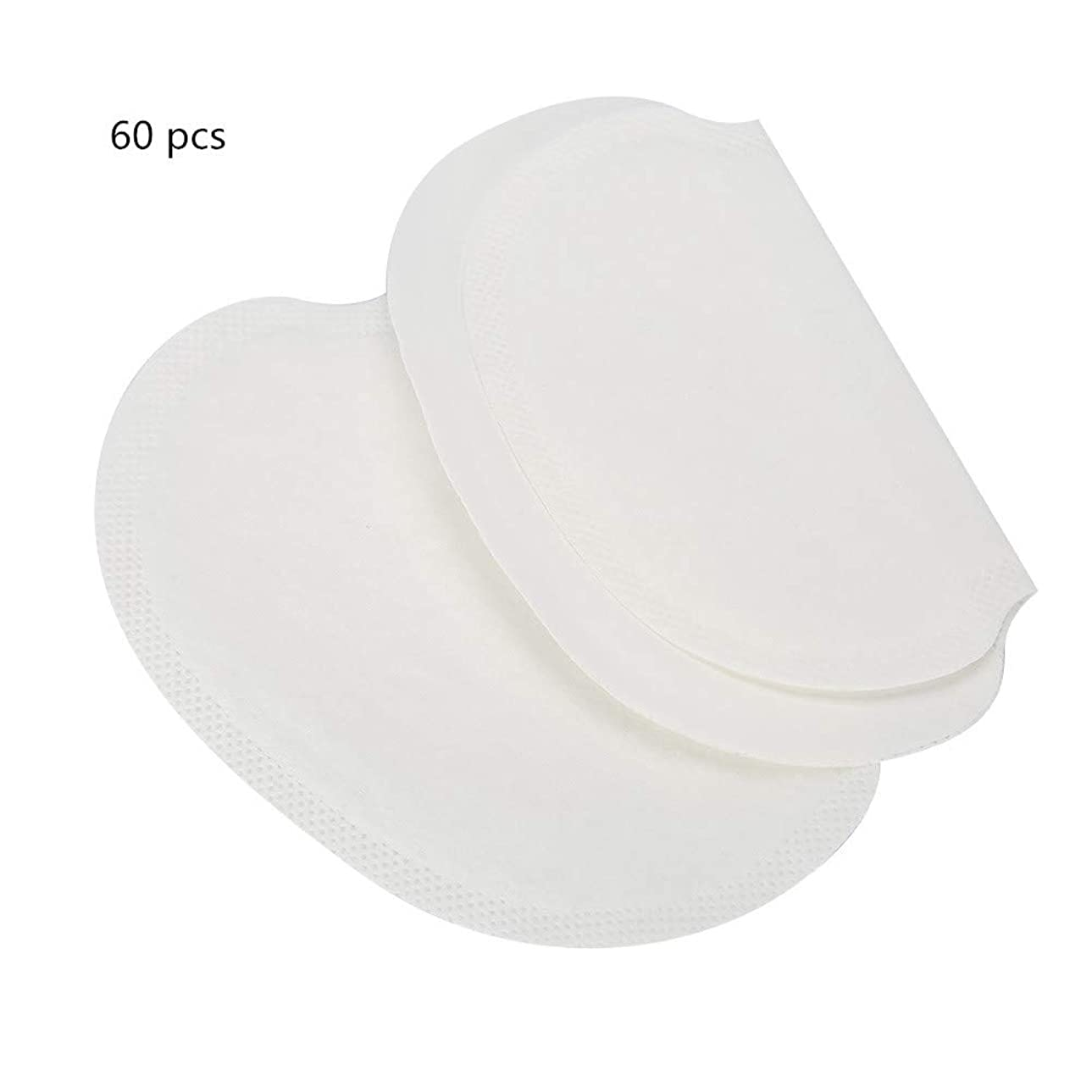 温室潮トレーダーわき汗パット,汗パッド60枚、吸収性の脇の下の汗パッド、汗をかくための使い捨て脇の下、男性と女性用、ソフト/非常に吸収性/無臭