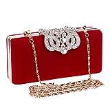Umhängetasche Damen Clutch Clutch Taschen Für Frauen Strass Abendtaschen Umhängetasche Für Hochzeitsdiamanten Lady Geldbörse Kette Handtaschen Mini (Maxlength