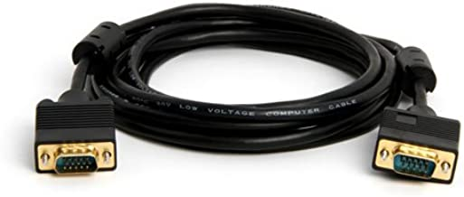 Pro-Techgroup 10 ft VGA SVGA UXGA Monitor Projector Cable - Coaxial (RGB type) and 4 twisted pair to support higher video resolution. LIFETIME Warranty