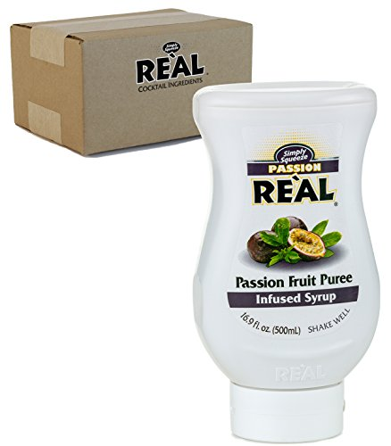 Passion Fruit Reàl Passion Fruit Puree Infused Syrup 169 FL OZ Squeezable Bottle Pack of 1
