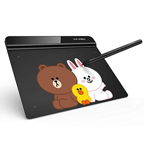 XP-PEN G640 Linefriends Tableta Gráfica OSU De 6 x 4 Pulgadas! Lápiz sin Batería para Tableta para Aprendizar a Distancia