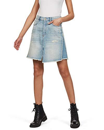 G-STAR RAW 3301 Fringe Falda, Azul (lt Vintage Aged Destroy 8973-9114), 34 (Talla del Fabricante: 24W) para Mujer