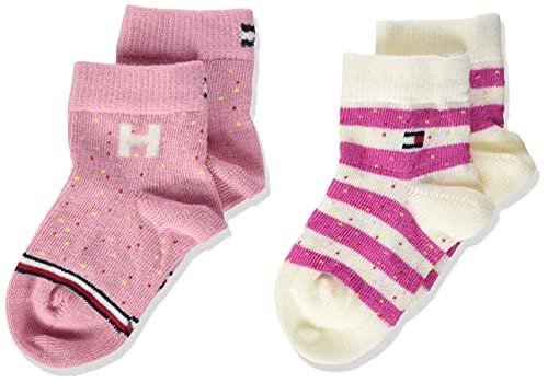 Tommy Hilfiger Neppy Breton Stripe Baby Socks Calcetín clásico, Pink Combo, 19 para Bebés