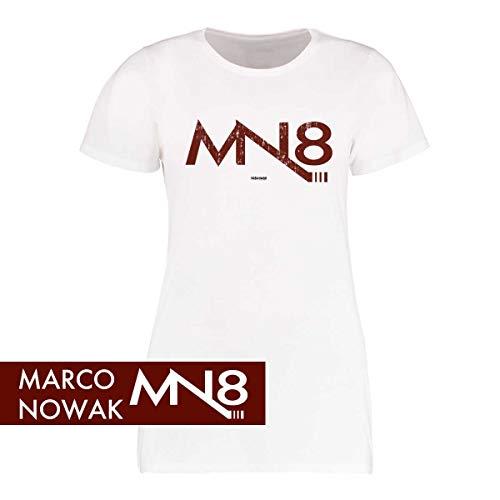 Scallywag® Eishockey Frauen T-Shirt Marco Nowak #8 Logo Signature I Größen S - XXL I A BRAYCE® Collaboration (offizielle Marco Nowak #8 Collection) (M)