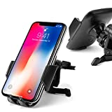 Cellet Vehicle Air Vent Phone Holder One Touch Universal Cradle Compatible With iPhone 11 Pro Max Xr Xs Max Xs X SE 8 Plus 7 6S Note 10 5G 9 8 Galaxy S10 5G S10 S10e S10+ J2 S9 S8 Pixel 4 3 XL