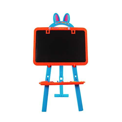 CCM Caballete de los niños, Hecho de plástico Natural Puede ser Pintado 18,5 x 13,5 Pulgadas de Doble Cara Ajustable Panel de Tablero de Dibujo magnética pie de Caballete Infantil