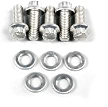 ARP 770-1003 Stainless Steel M6 x 1 Thread 30mm UHL 12-Point Bolt with 8mm Socket and Washer, (Set of 5)