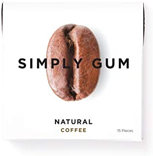 Simply Gum | Chewing Gum | Coffee | Vegan + non GMO | Pack of Six (90 Pieces Total)