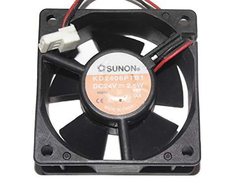 Zyvpee 6KD2406PTB1 60mm 24V 2.6W 2Wire 6025 Ventilador inversor