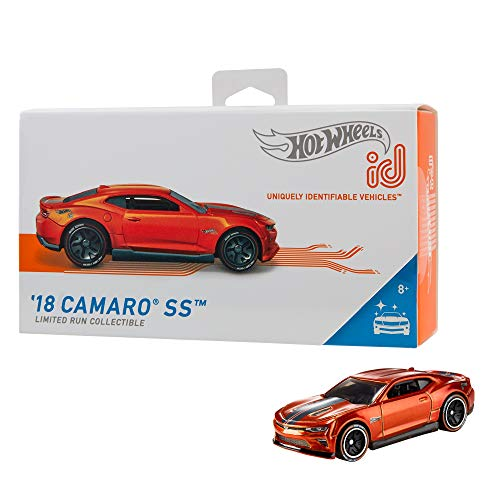 Hot Wheels iD FXB16 - Die-Cast Fahrzeug 1:64 2018 Camaro SS mit NFC-Chip zum Scannen in der Hot Wheels iD App, Auto Spielzeug ab 8 Jahren