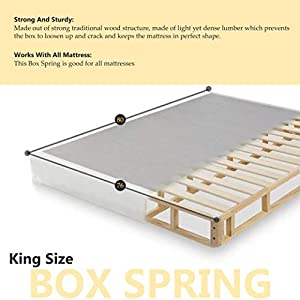 "Continental Sleep Fifth Ave Collection, Fully Assembled Mattress Set With 13"" Soft Euro Top Orthopedic King Mattress and 8"" Box Spring"