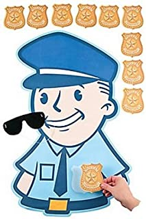 Fun Express Pin The Badge on The Policeman Police Carnival Party Game