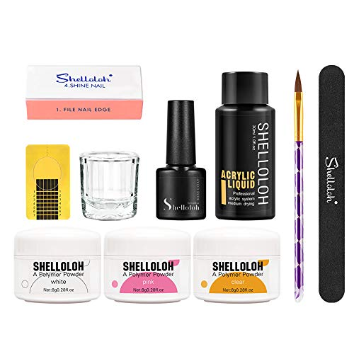 Shelloloh Salón de Belleza de Acrílico Manicura Kit Conjunto DIY Uñas Arte